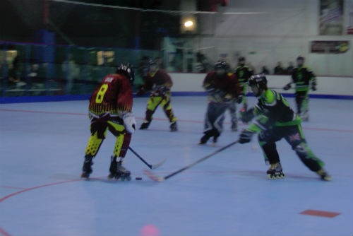 roller hockey match