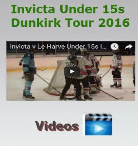 invicta ice hockey under 15s dunkirk tour